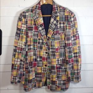 J. Crew madras plaid blazer men's medium